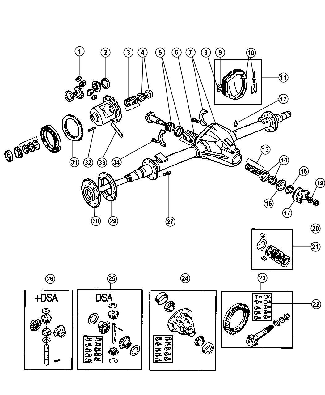 Dodge Ram Shim Shim Kit Differential Differential