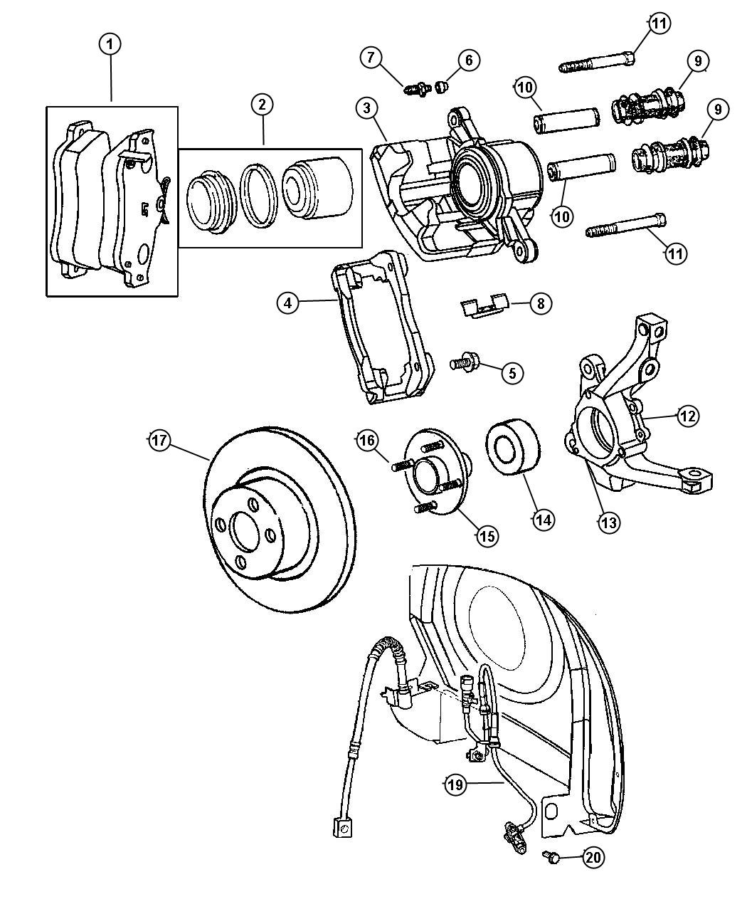 Chrysler Pt Cruiser Bearing Wheel Powersteering