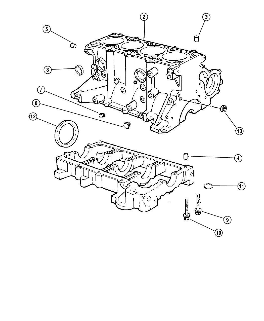 Jeep Wrangler Dowel Dowel Pin Engine Block To Bedplate