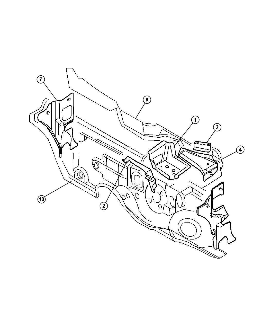 Jeep Wrangler Clip Nameplate Nut Dash Panel Silencer