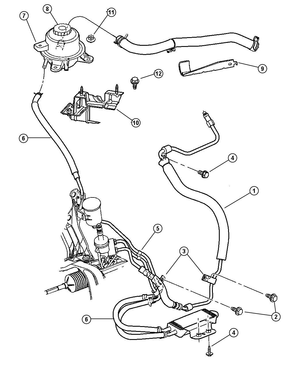Chrysler Town Amp Country Hoses Power Steering 3 5l