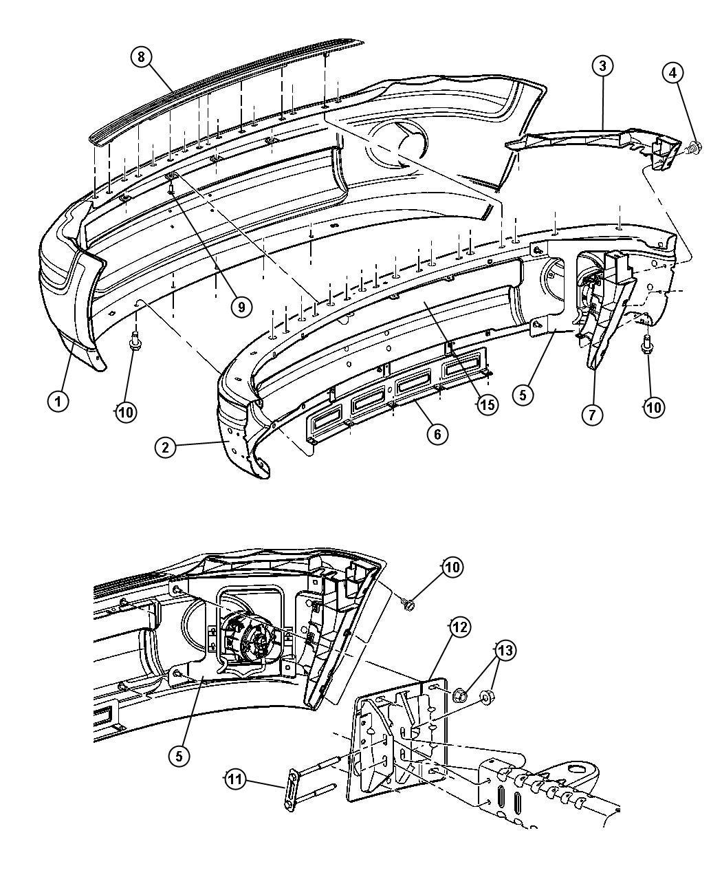 Dodge Ram Panel Front Bumper Sight Bumperbumper