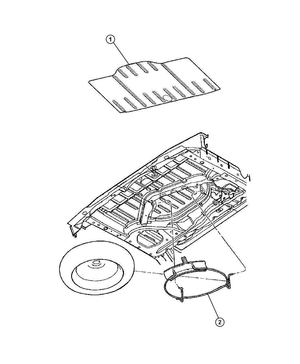 Chrysler Pt Cruiser Hook Spare Tire Attach