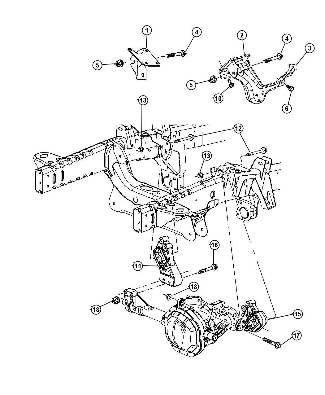 Dodge Ram Engine Mountin Front 4wd 4 7l Magnum
