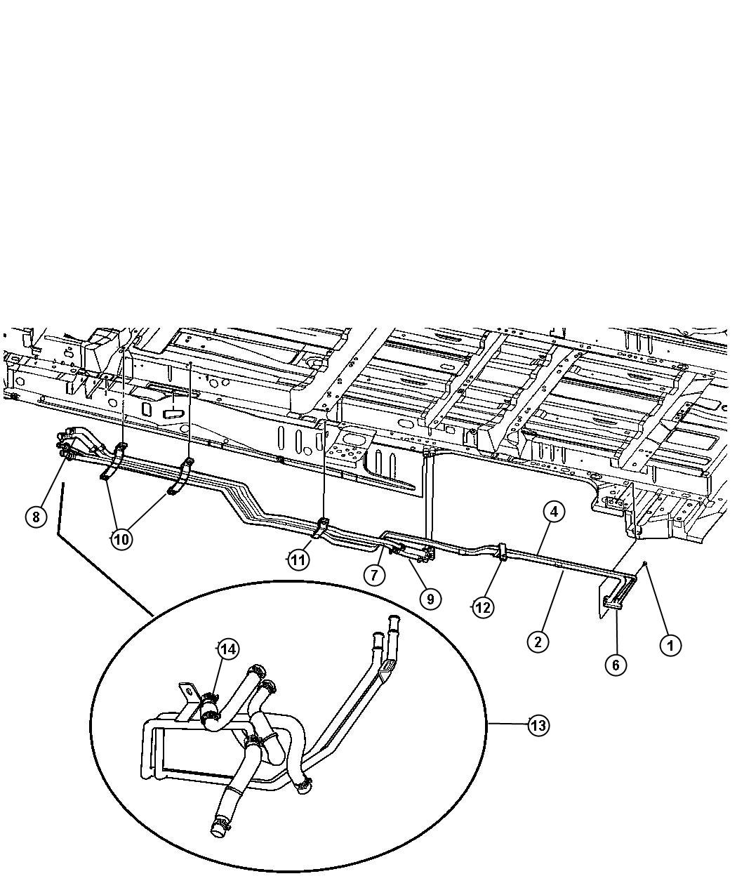 Chrysler Town Amp Country Hose Heater Rear Packageseating