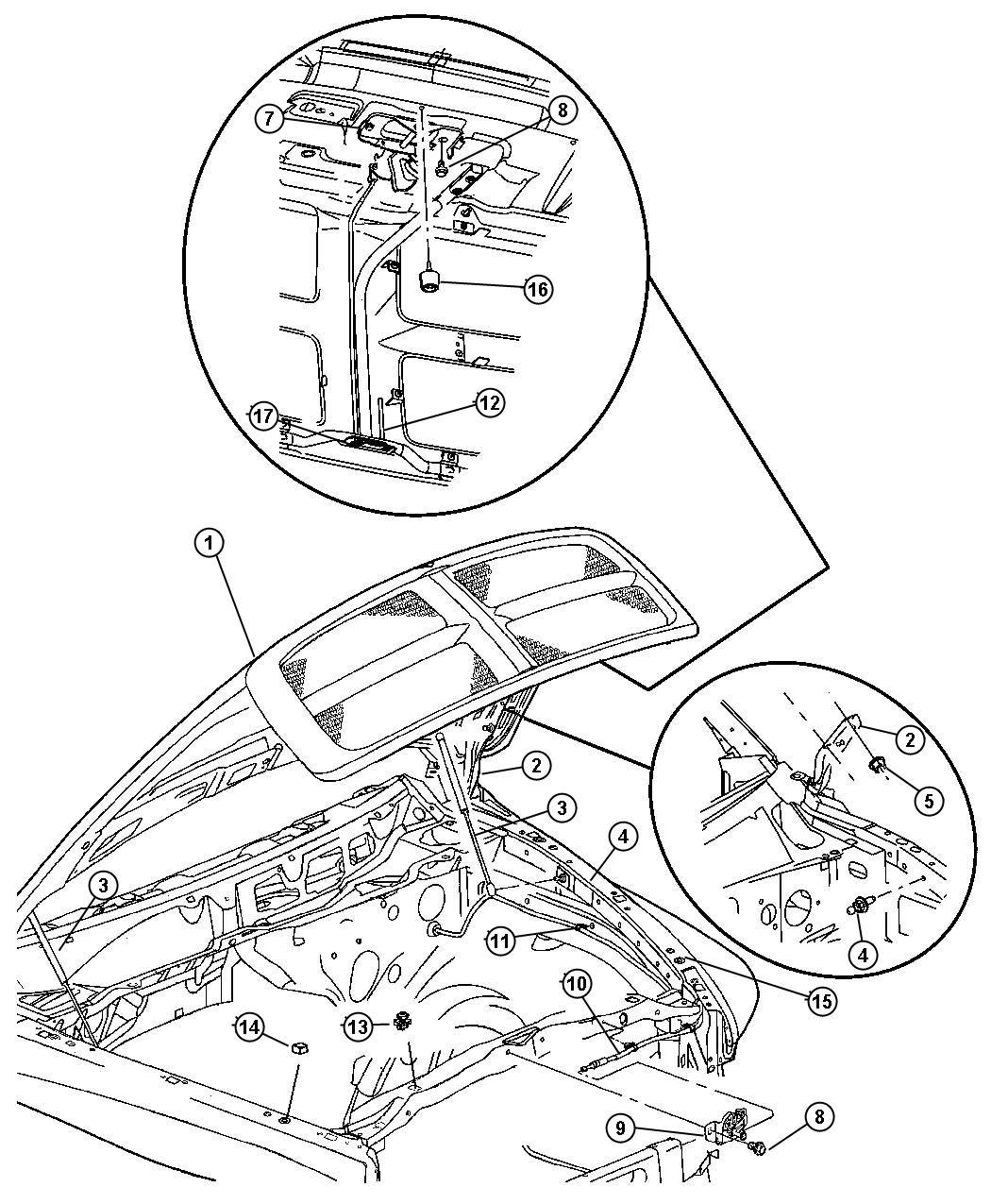 Dodge Ram Retainer Hood Latch Release Rod