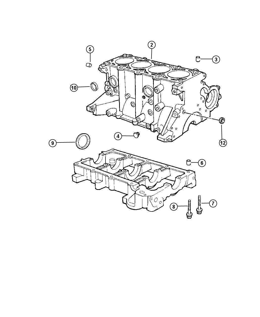 Dodge Ram Seal Rear Main Crankshaft