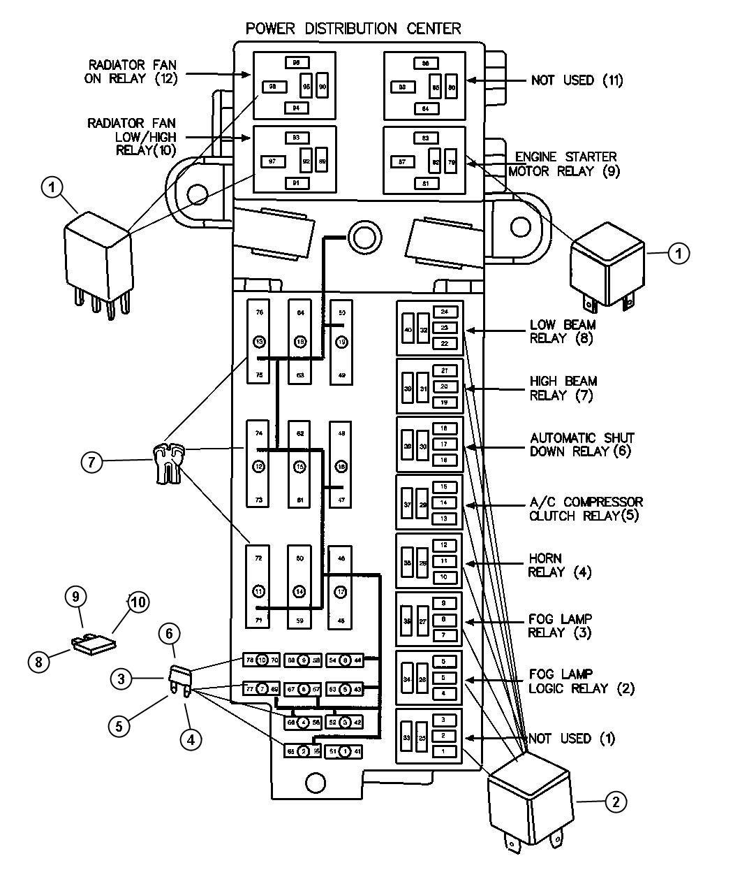 Dodge Viper Relay Fuel Pump Electrical Relay Fuel Pump