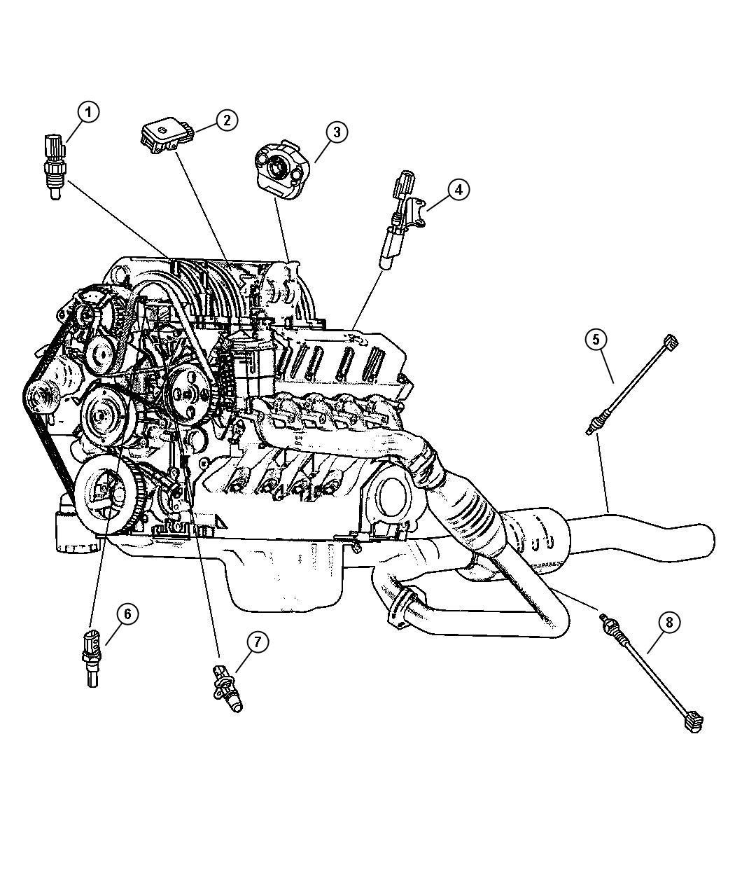 Jeep Liberty Sensor Coolant Temperature Torque Converter