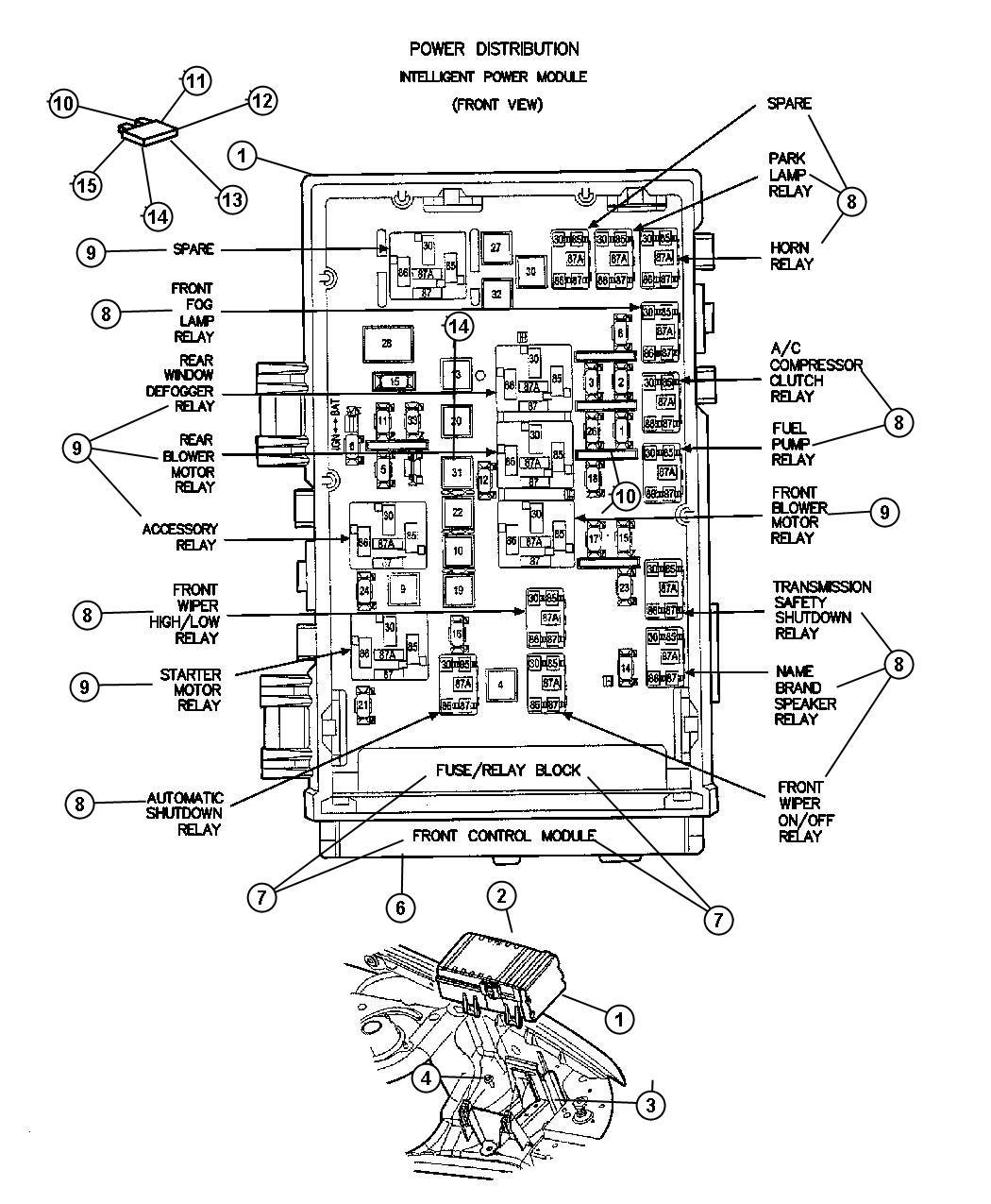 Dodge Grand Caravan Module Front Control Infinityfog