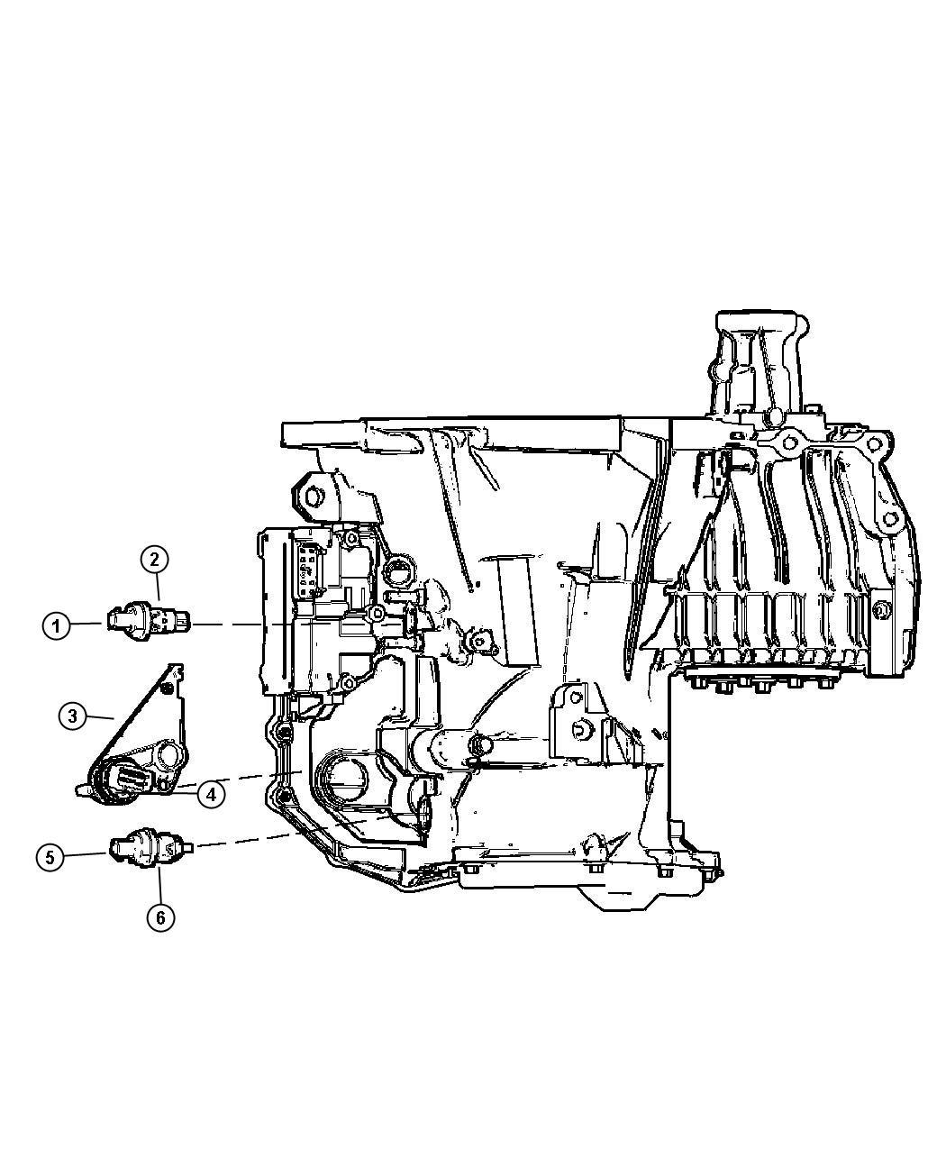 Dodge Journey Sensor Transmission Range Super Track Pak