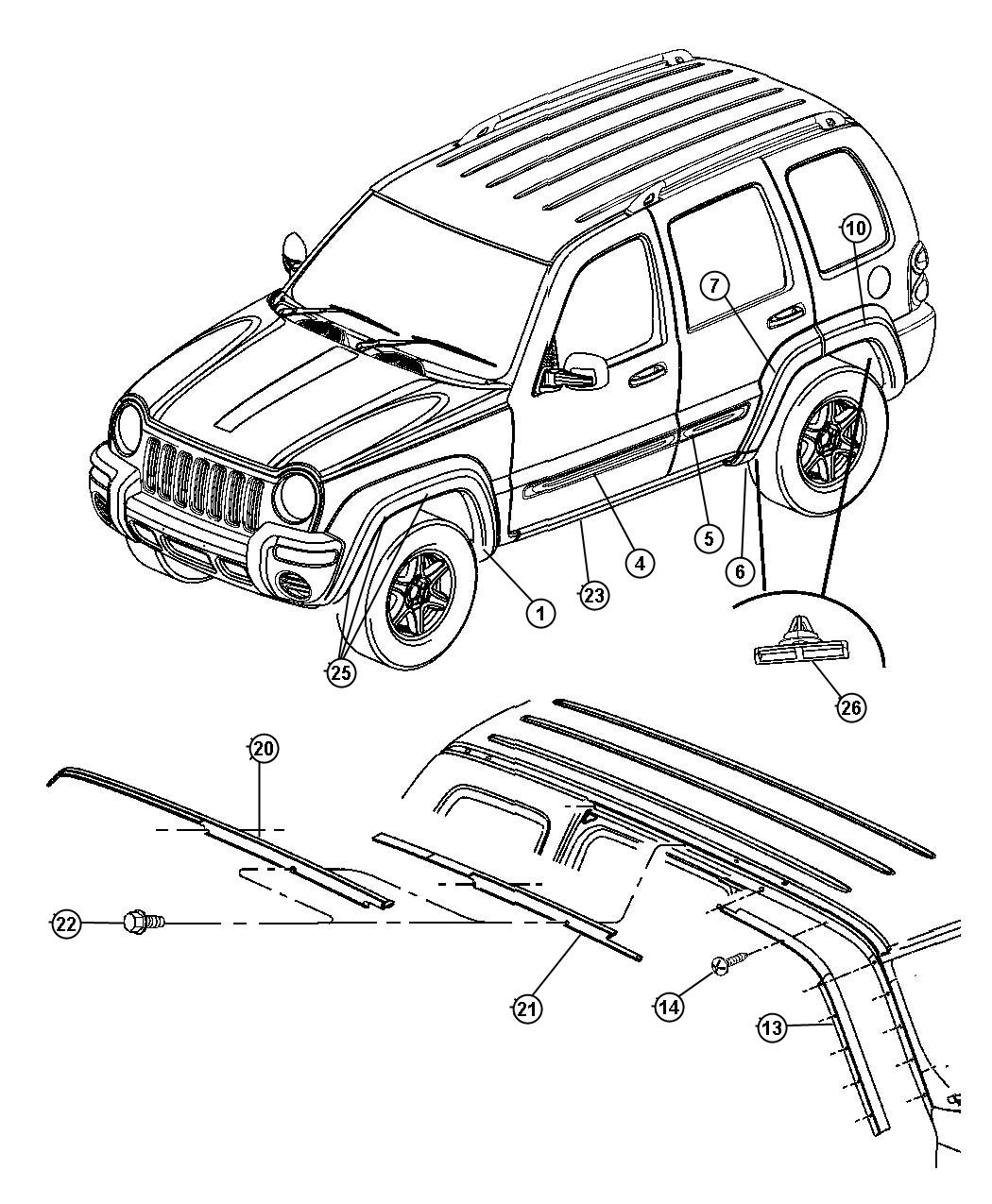 08 Jeep Liberty Body Parts