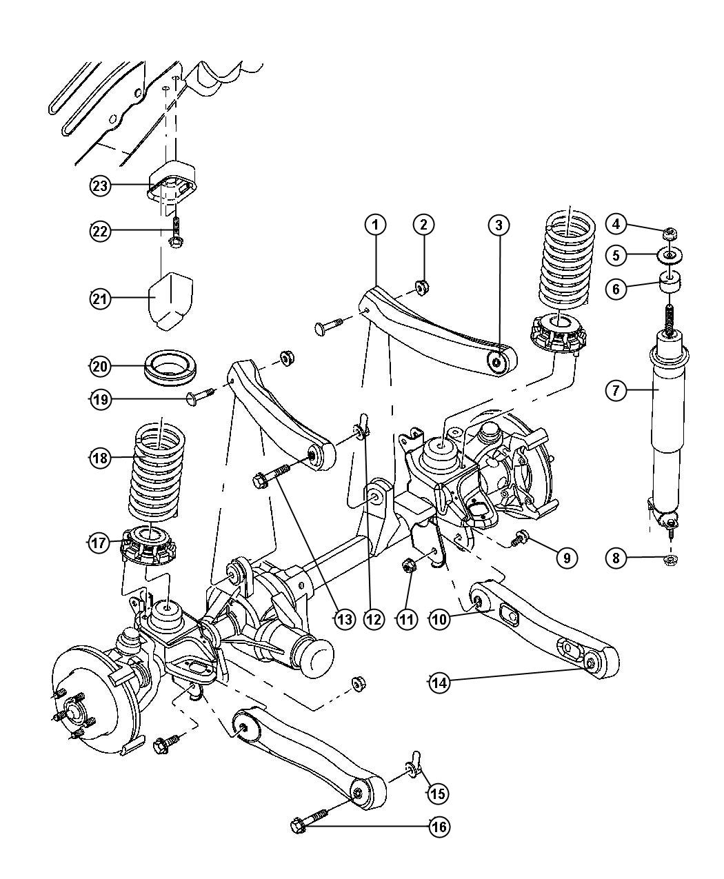 Jeep Suspension Front Springs With Control Arms And Shocks