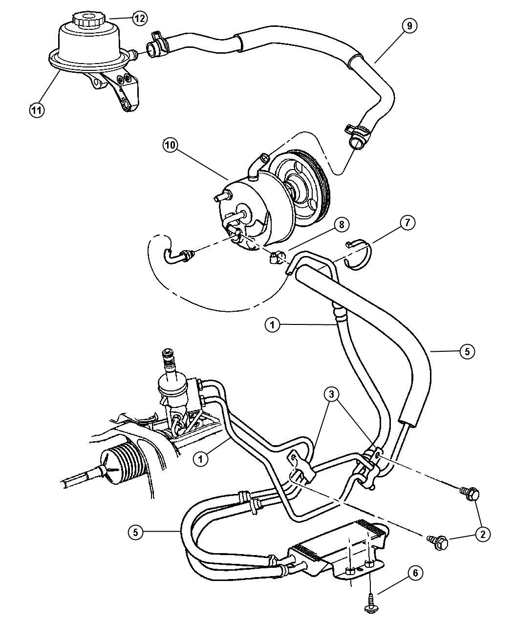 Chrysler Town And Country Power Steering Diagram