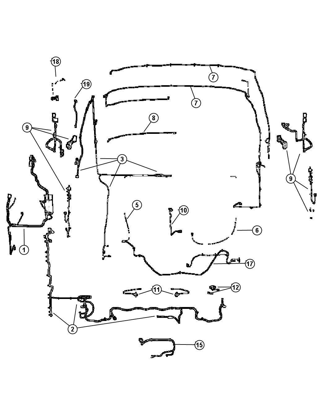 Jeep Liberty Adapter Converts 7 Way Round To 4 Way