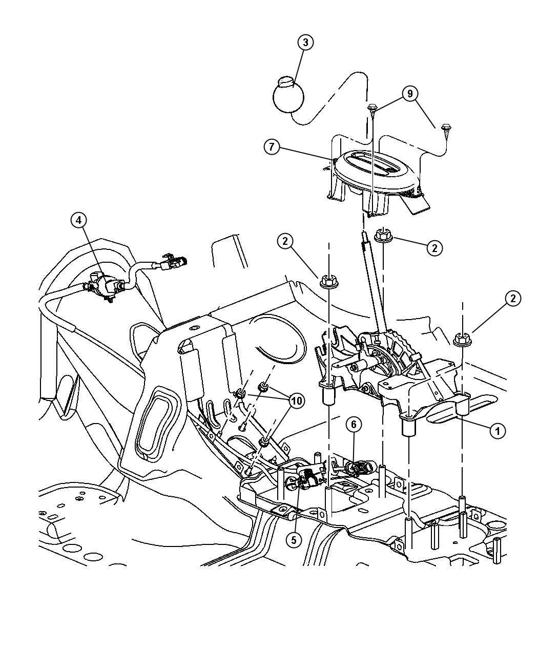 Chrysler Pt Cruiser Gearshift Control