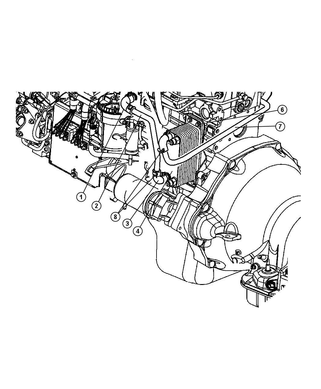 Dodge Ram Oil Cooler Water To Oilsel Engine