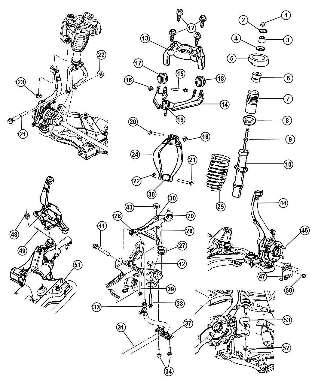 Dodge Stratus Suspension Parts