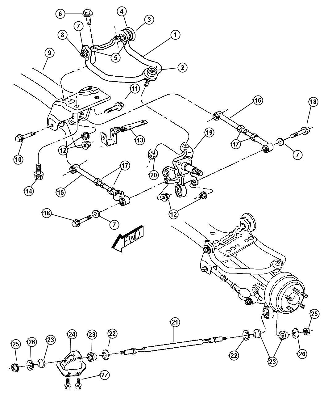 Chrysler Sebring Rear Suspension