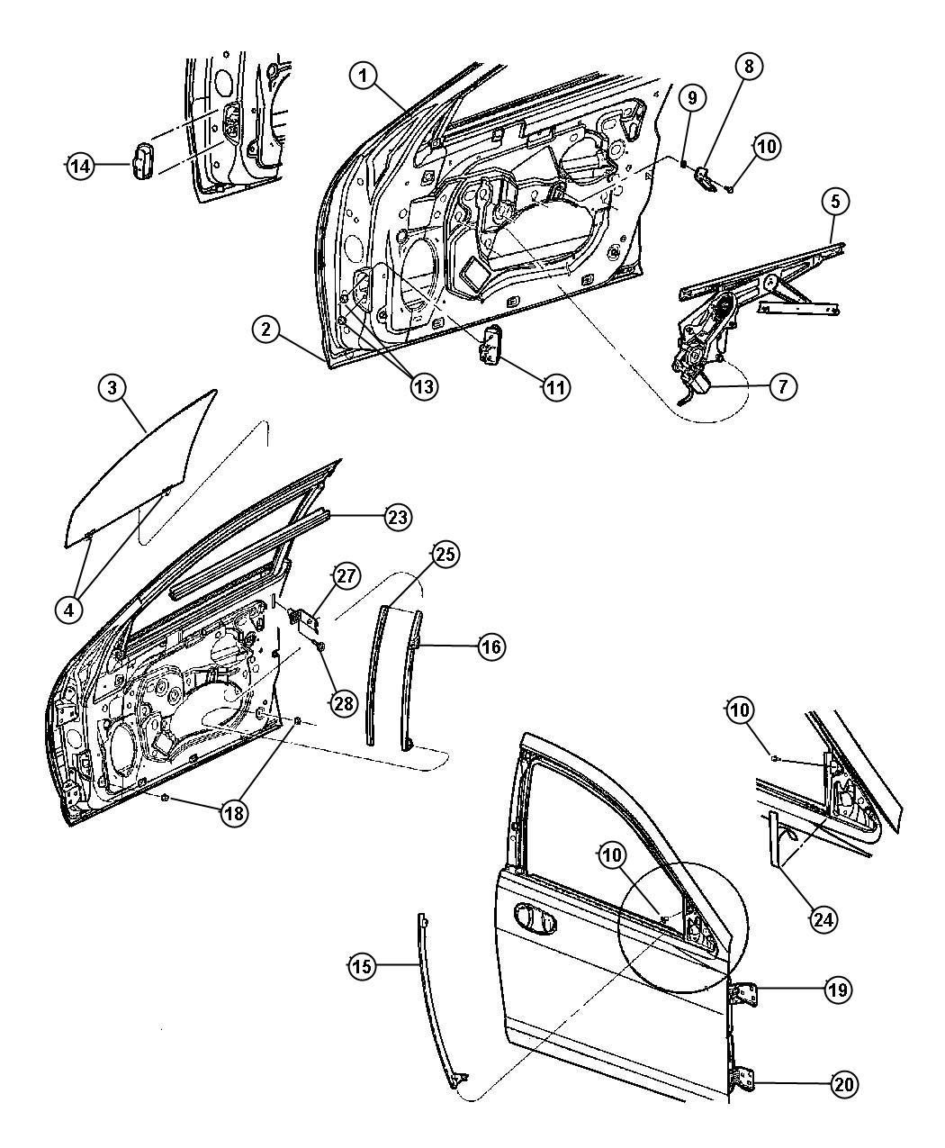 Chrysler Sebring How To Remove Window Handle Crank