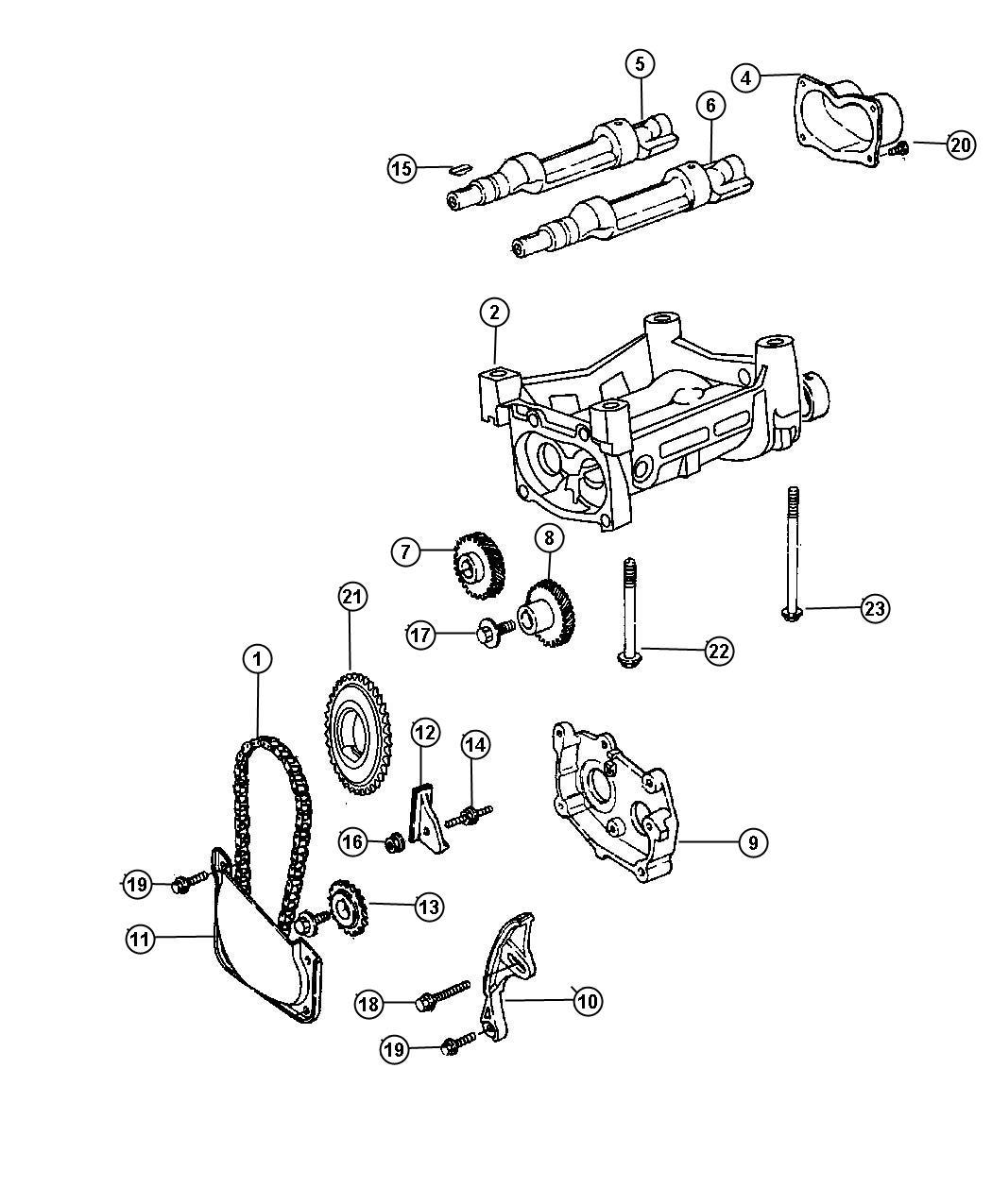 Dodge Stratus Sxt Balance Shafts 2 4l I4 Dohc 16v