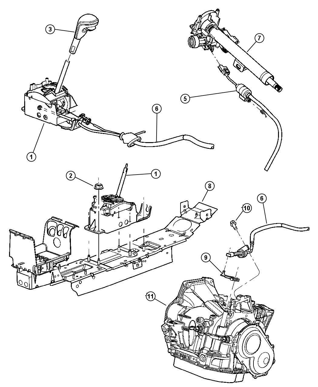 Dodge Stratus Gear Shift Controls