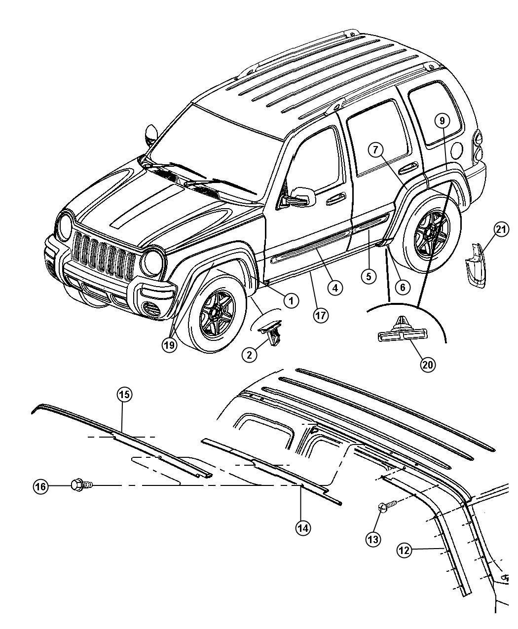 Jeep Clip Pin Applique Push Arrow Head Front