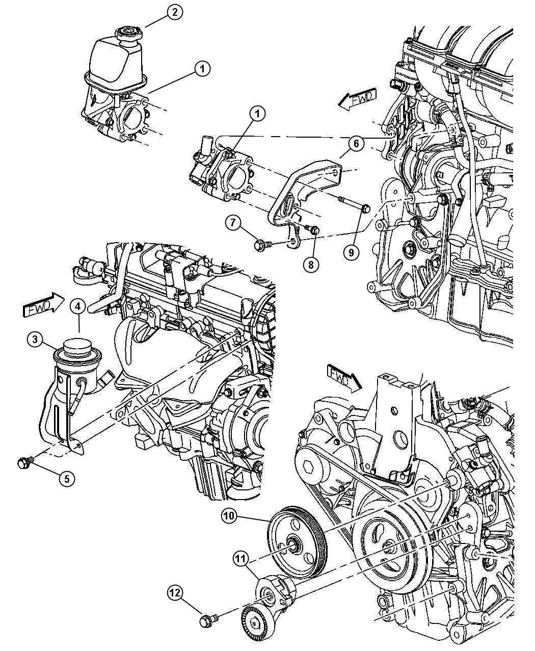 Pump Assembly And Mounting 2 4l Edv Edz Engine