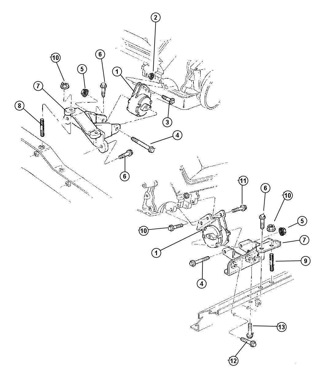 Dodge Nitro Bolt Mounting Hex Flange Head M12x1 75x40