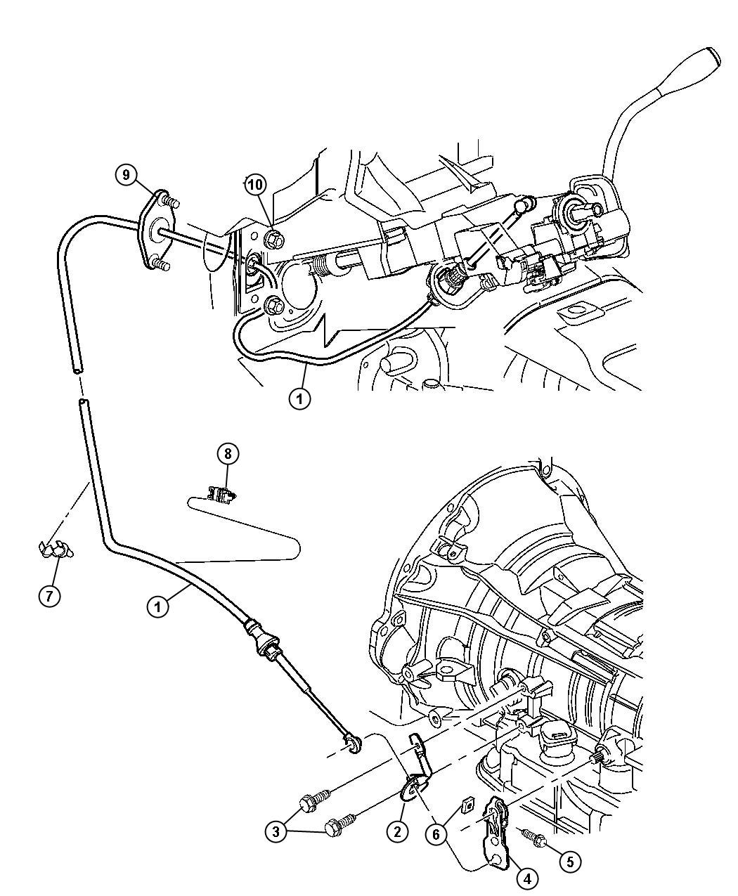 Gearshift Controls 45rfe Transmission 5 Spd Automatic 5