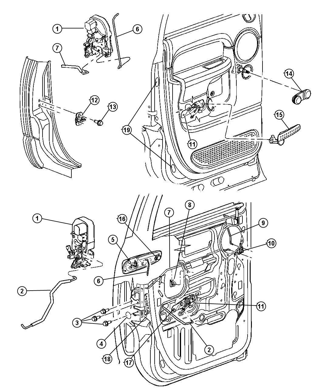Dodge Ram Handle Window Regulator Used For
