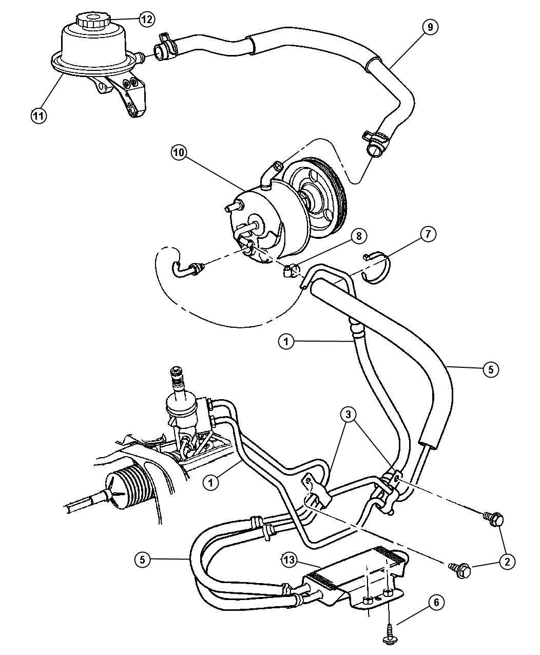 Power Steering Leak Chrysler Town Country