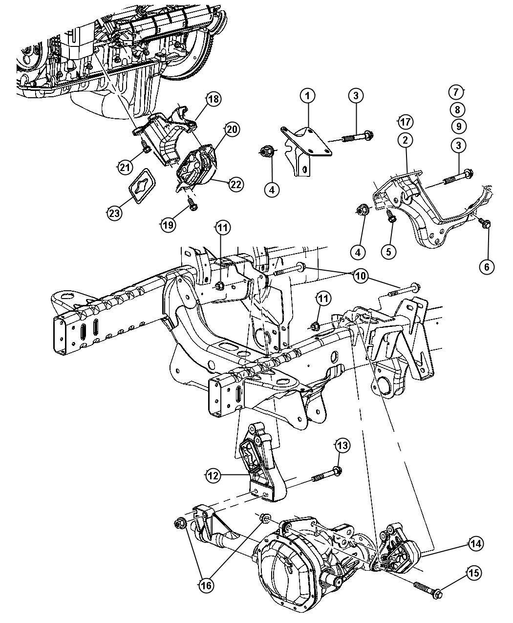 Dodge Ram Bracket Engine Mount Front Left Left