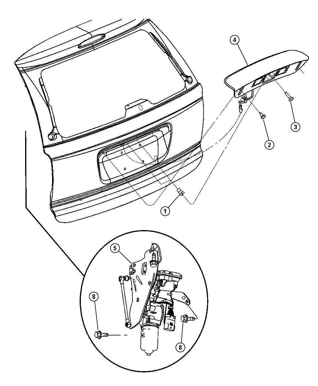 Chrysler Aspen Screw Pan Head M6x1 00x26 00 Left