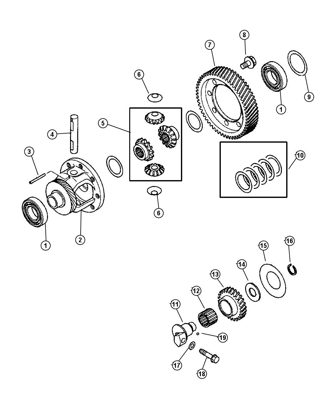 Differential Amp Reverse Idler Gear