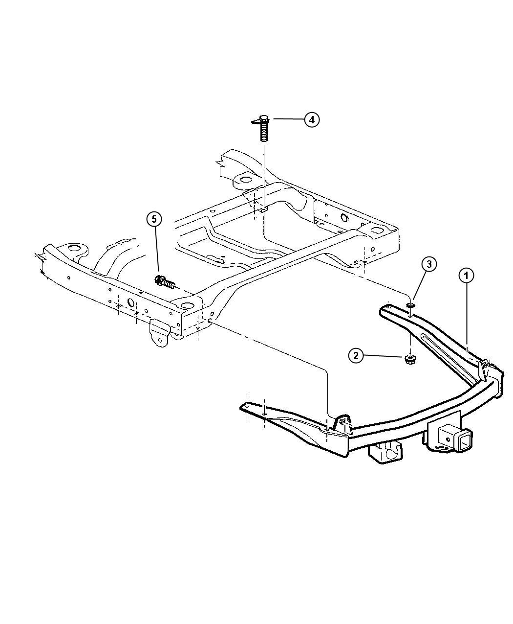 Dodge Ram Hitch Receiver Receiver Kit Trailer Tow