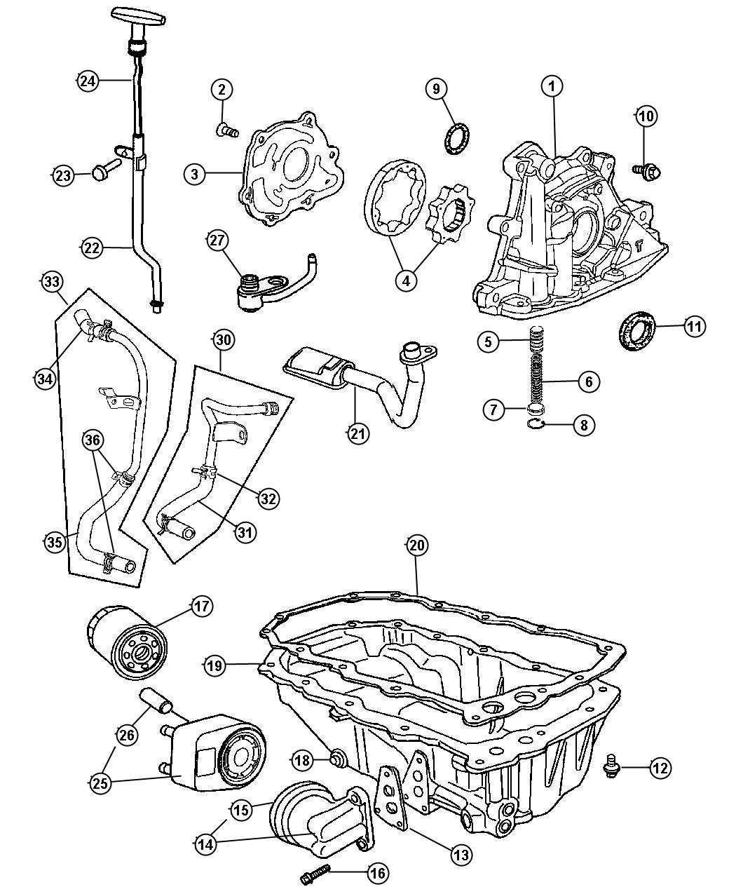 Chrysler Engine Oiling Engine
