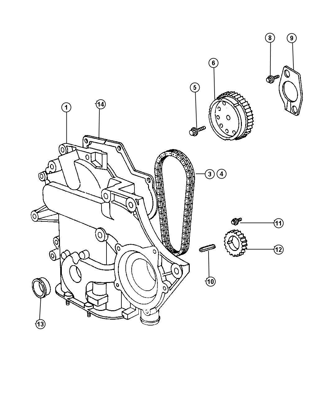 Dodge Grand Caravan Timing Chain And Cover 3 8l 3 8l