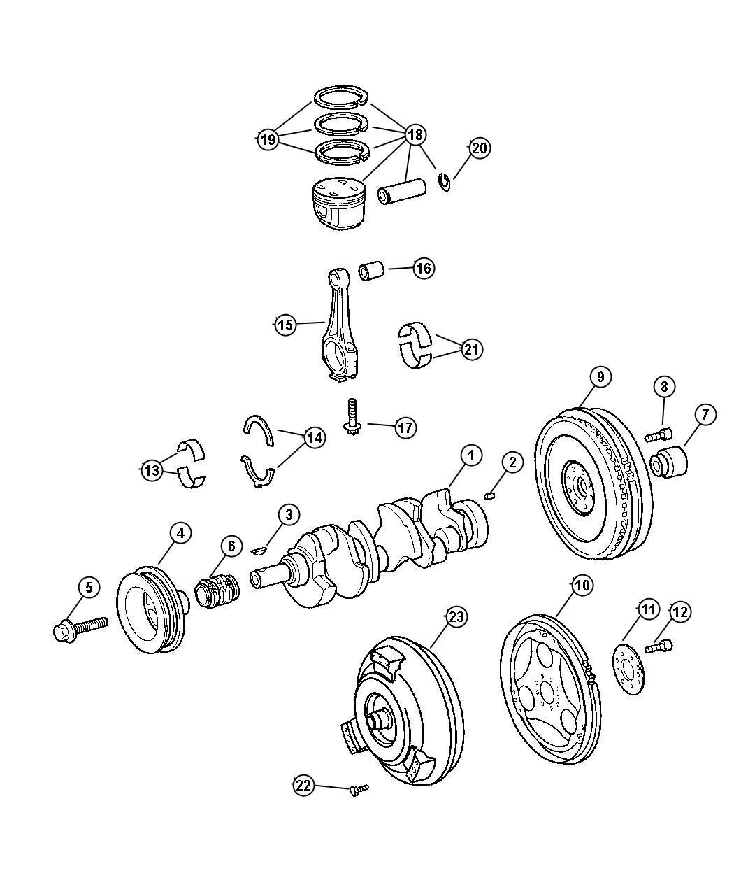 Chrysler Crossfire Bolt Flywheel