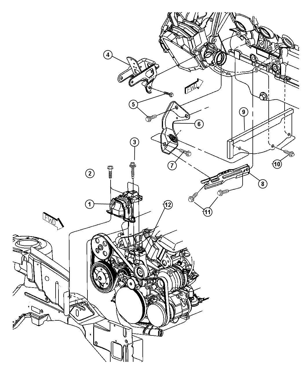 Dodge Grand Caravan Bolt Assys Pumppower