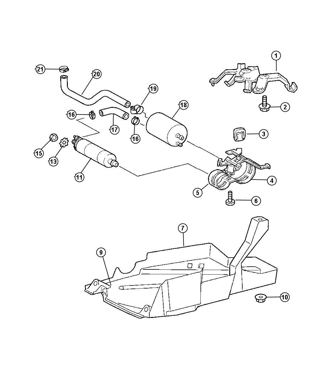 Chrysler Crossfire Fuel Pump Package