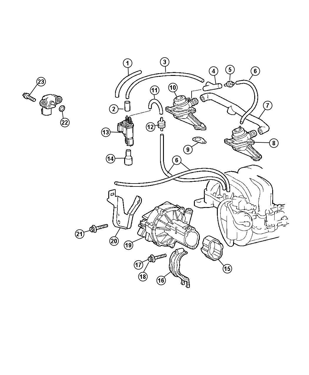 Chrysler Crossfire Air Pump