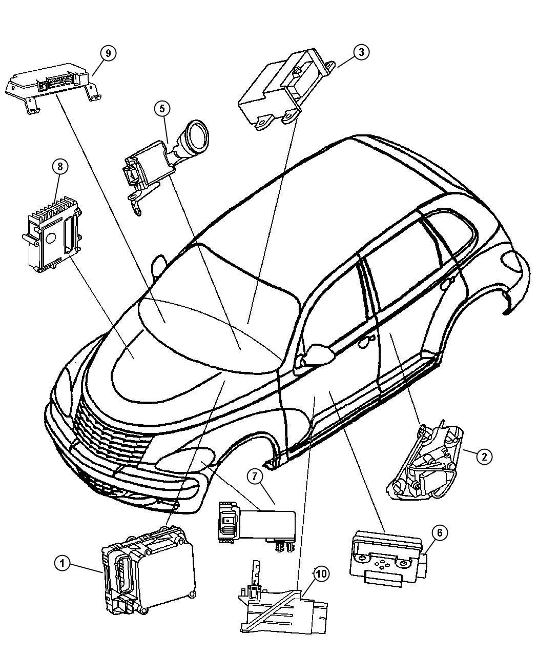 Chrysler Pt Cruiser Module Anti Lock Brakes Perftraction