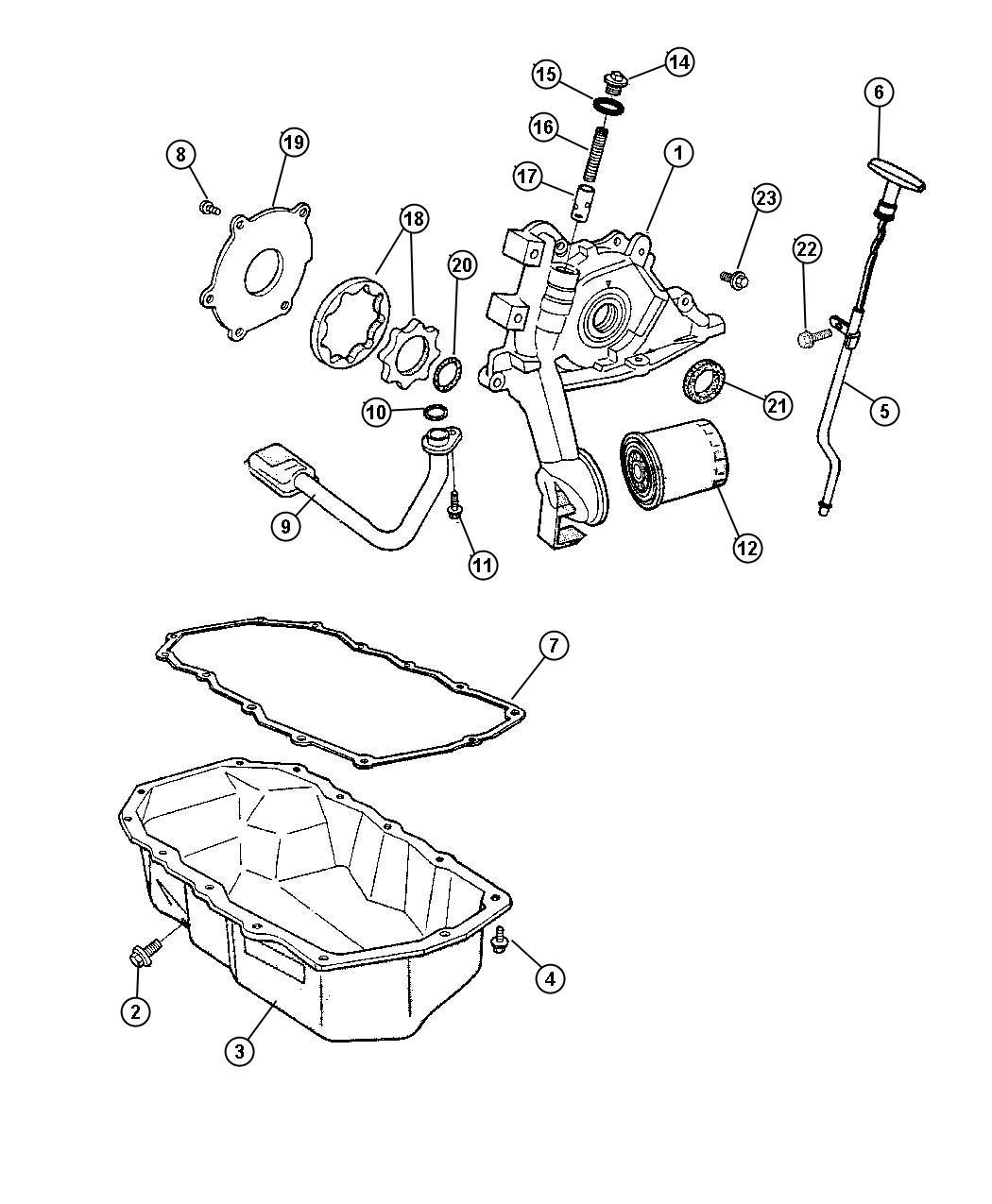 Jeep Wrangler Filter Engine Oil Ecm Dhj