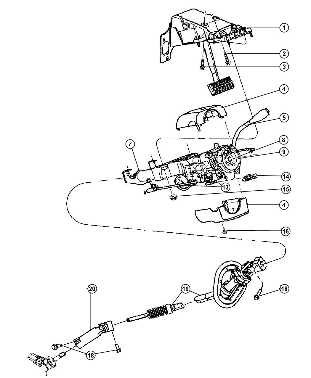 Dodge Ram Column Steering Tilt