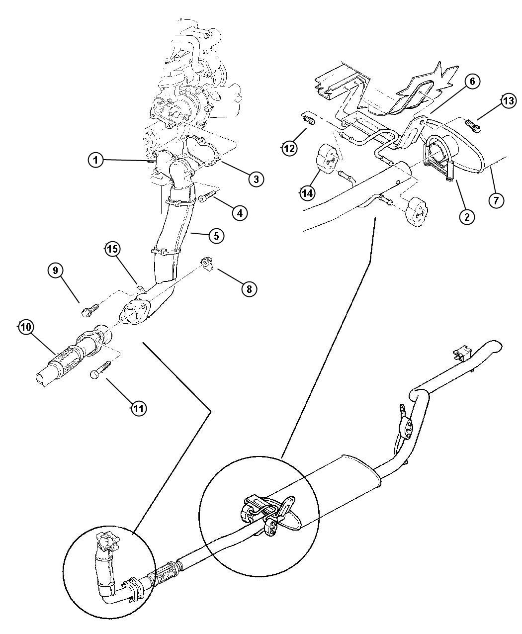 Jeep Cherokee Flange Exhaust Pipe Hanger Down Pipe