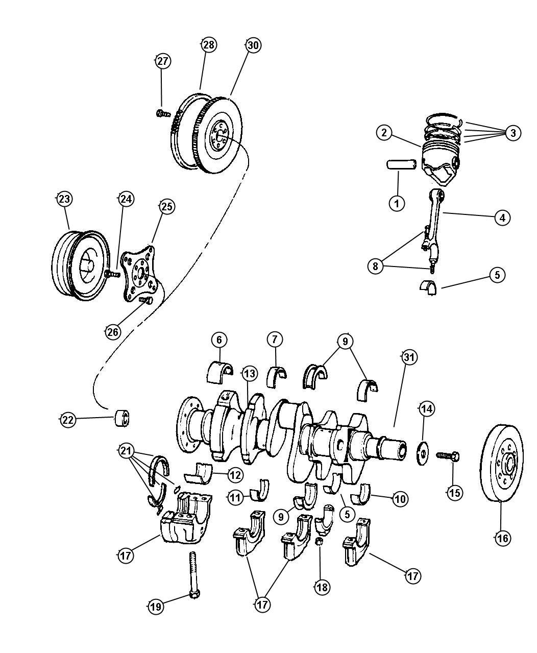 Chrysler Pt Cruiser Bolt Connecting Rod Per Bank