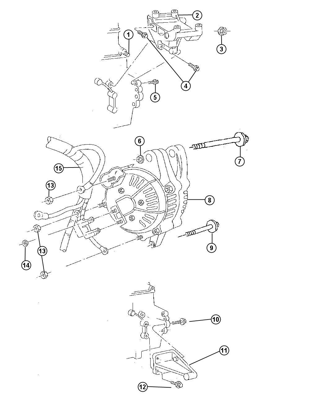 jeep cherokee bracket alternator