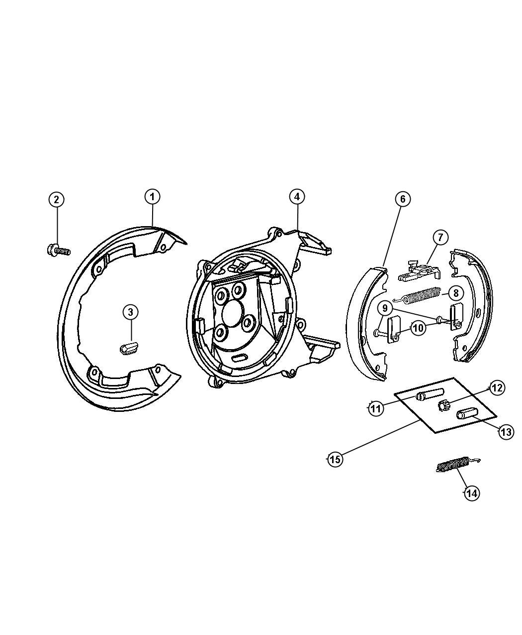 Chrysler Sebring Brake Assembly Parking
