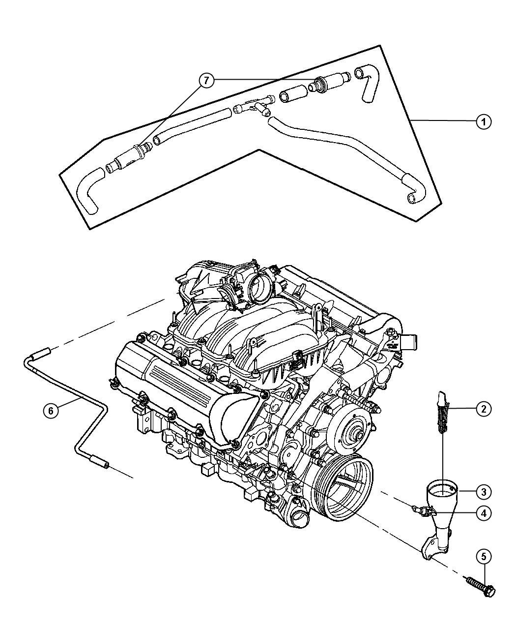 Dodge Durango Tube Crankcase Vent To Intake Manifold